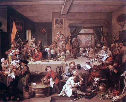 William Hogarth An Election Entertainment - Hand Painted Oil Painting