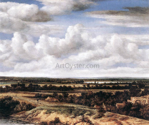 Philips Koninck An Extensive Landscape with a Road by a Ruin - Hand Painted Oil Painting