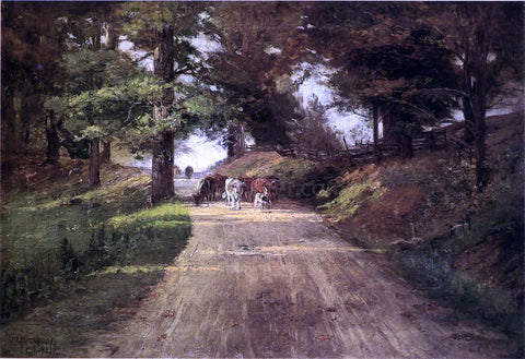 Theodore Clement Steele An Indiana Road - Hand Painted Oil Painting