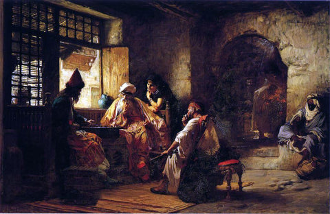 Frederick Arthur Bridgeman An Interesting Game - Hand Painted Oil Painting