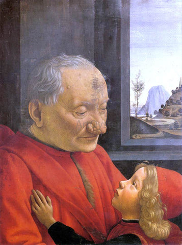 Domenico Ghirlandaio An Old Man and His Grandson - Hand Painted Oil Painting
