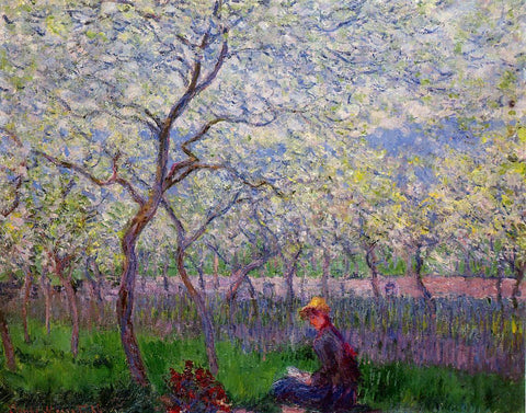 Claude Oscar Monet An Orchard in Spring - Hand Painted Oil Painting