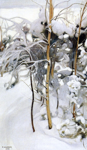 Pekka Halonen An Orchard in Winter - Hand Painted Oil Painting