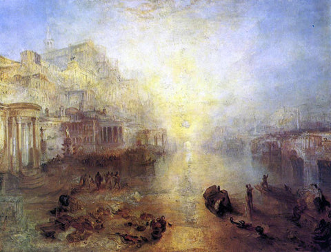 Joseph William Turner Ancient Italy - Ovid Banished from Rome - Hand Painted Oil Painting