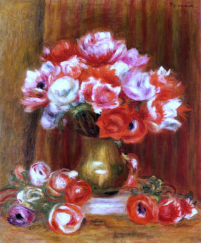 Pierre Auguste Renoir Anemones - Hand Painted Oil Painting