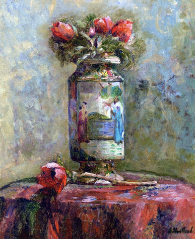 Edouard Vuillard Anemones in a Chinese Vase - Hand Painted Oil Painting