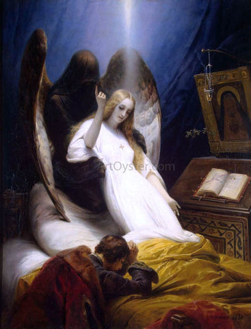 Horace Vernet Angel of Death - Hand Painted Oil Painting