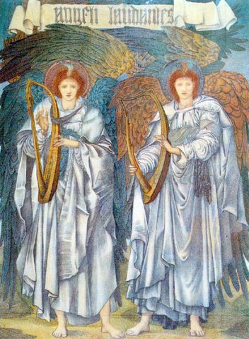 Sir Edward Burne-Jones Angeli Laudantes - Hand Painted Oil Painting