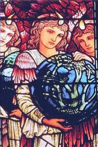 Sir Edward Burne-Jones Angels of Creation - Hand Painted Oil Painting