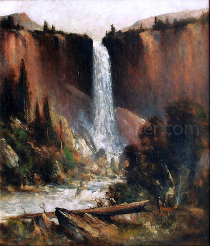 Thomas Hill Angler's Camp Below Nevada Falls - Hand Painted Oil Painting