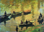Claude Oscar Monet Anglers on the Seine at Poissy - Hand Painted Oil Painting
