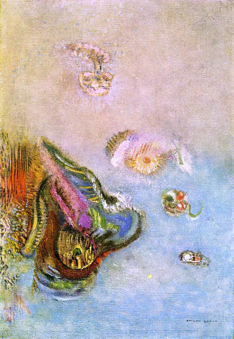 Odilon Redon Animals of the Sea - Hand Painted Oil Painting