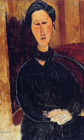 Amedeo Modigliani Anna (Hanka) Zabrowska - Hand Painted Oil Painting