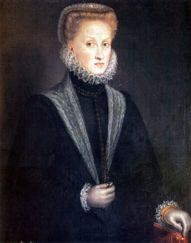 Sofonisba Anguissola Anne Of Austria, Queen Of Spain - Hand Painted Oil Painting