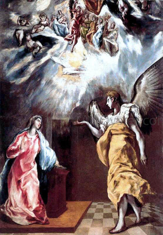 El Greco Annunciation - Hand Painted Oil Painting