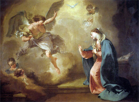Giambattista Pittoni Annunciation - Hand Painted Oil Painting