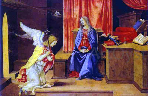 Filippino Lippi Annunciation - Hand Painted Oil Painting