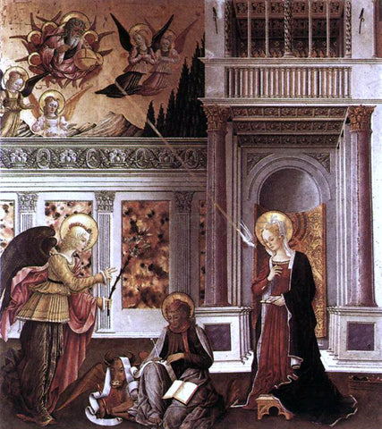 Benedetto Bonfigli Annunciation - Hand Painted Oil Painting