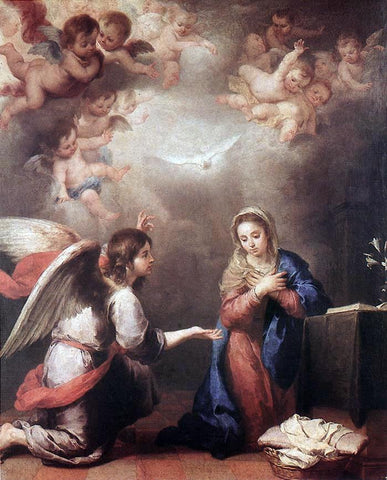 Bartolome Esteban Murillo Annunciation - Hand Painted Oil Painting