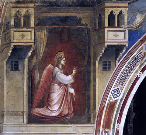 Giotto Di Bondone Annunciation: The Angel Gabriel Sent by God (Cappella Scrovegni (Arena Chapel), Padua) - Hand Painted Oil Painting