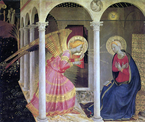 Fra Angelico Annunciation (The Cortona Altarpiece) - Hand Painted Oil Painting