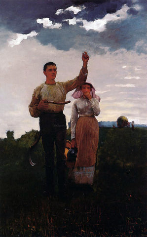 Winslow Homer Answering the Horn (also known as The Home Signal) - Hand Painted Oil Painting