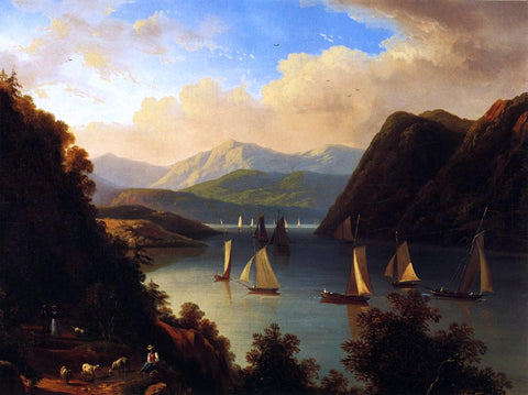 Victor DeGrailly Anthony's Nose on The Hudson - Hand Painted Oil Painting