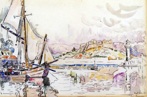Paul Signac Antibes - Hand Painted Oil Painting