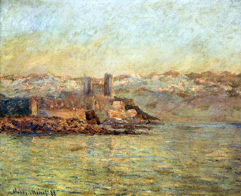 Claude Oscar Monet Antibes and the Maritime Alps - Hand Painted Oil Painting