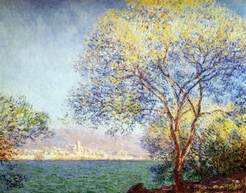 Claude Oscar Monet Antibes in the Morning - Hand Painted Oil Painting