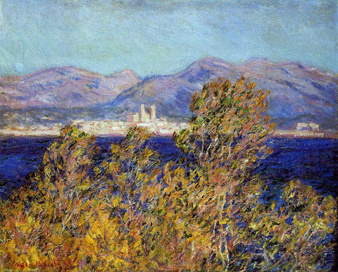 Claude Oscar Monet Antibes Seen from the Cape, Mistral Wind - Hand Painted Oil Painting