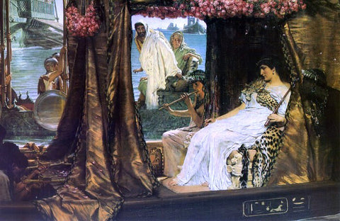 Sir Lawrence Alma-Tadema Antony and Cleopatra - Hand Painted Oil Painting