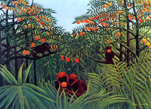 Henri Rousseau Apes in the Orange Grove - Hand Painted Oil Painting