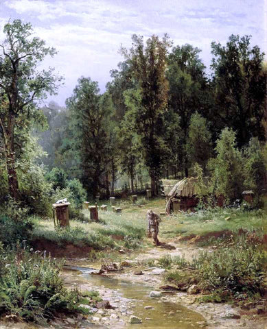 Ivan Ivanovich Shishkin Apiary in a Forest - Hand Painted Oil Painting