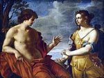 Giovanni Domenico Cerrini Apollo and the Cumaean Sibyl - Hand Painted Oil Painting
