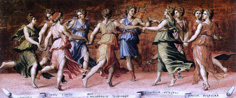Baldassare Peruzzi Apollo and the Muses - Hand Painted Oil Painting