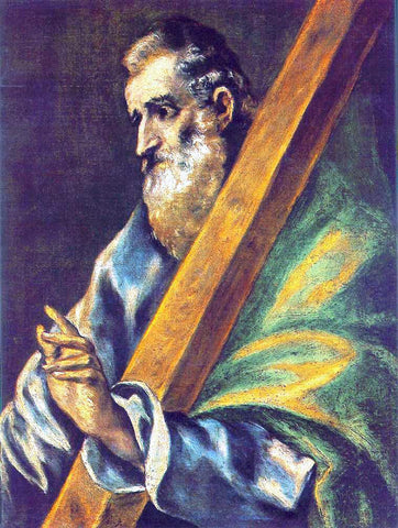 El Greco Apostle St Andrew - Hand Painted Oil Painting