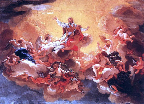 Baciccio Apotheosis of St Ignatius - Hand Painted Oil Painting