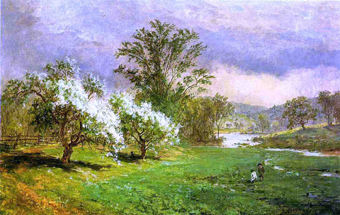Jasper Francis Cropsey Apple Blossom Time - Hand Painted Oil Painting
