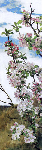 Alfred R.A. P.R.W.S. Apple Blossoms - Hand Painted Oil Painting