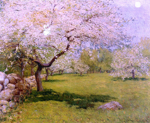 John Leslie Breck Apple Blossoms - Hand Painted Oil Painting