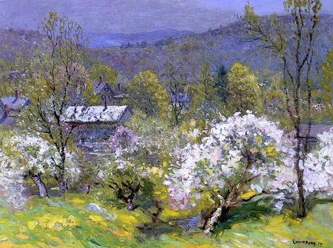 John Joseph Enneking Apple Blossoms - Hand Painted Oil Painting
