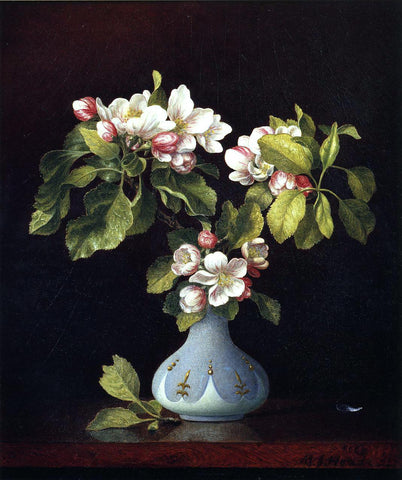 Martin Johnson Heade Apple Blossoms in a Vase - Hand Painted Oil Painting