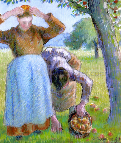 Camille Pissarro Apple Gatherers - Hand Painted Oil Painting