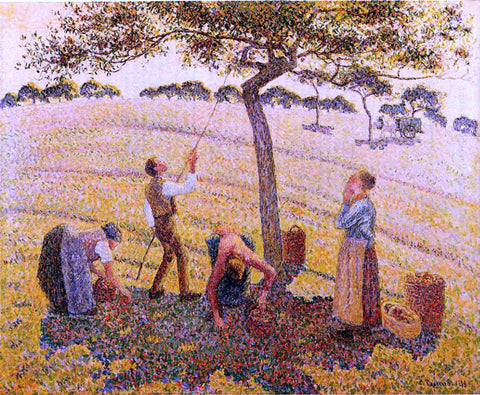 Camille Pissarro Apple Pickers, Eragny - Hand Painted Oil Painting