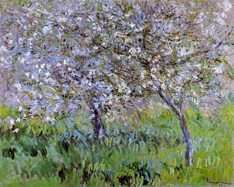 Claude Oscar Monet Apple Trees in Bloom at Giverny - Hand Painted Oil Painting
