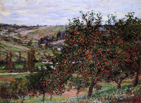 Claude Oscar Monet Apple Trees near Vetheuil - Hand Painted Oil Painting