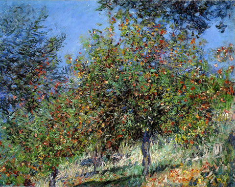 Claude Oscar Monet Apple Trees on the Chantemesle Hill - Hand Painted Oil Painting