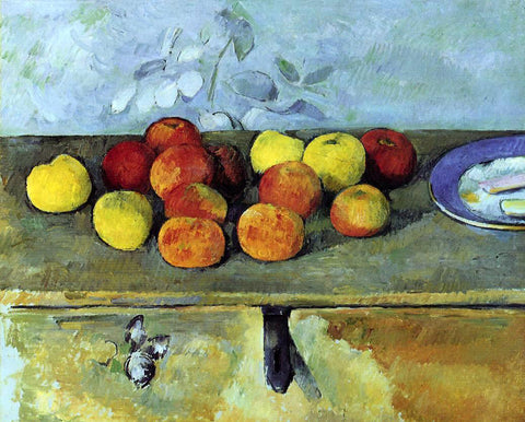 Paul Cezanne Apples and Biscuits - Hand Painted Oil Painting