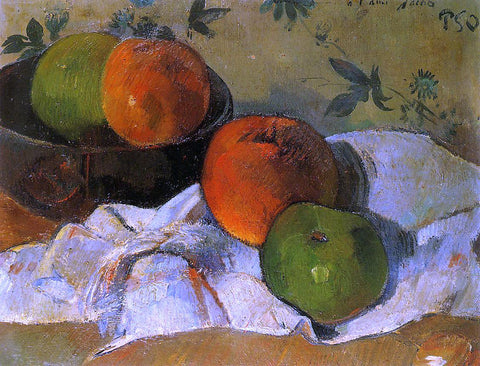 Paul Gauguin Apples and Bowl - Hand Painted Oil Painting